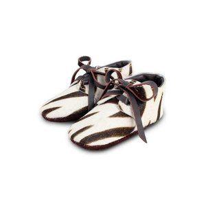 Donsje Amsterdam Safari Zebra Lace Up Shoes 0-6 mo